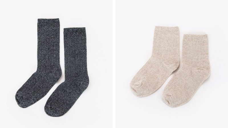 Recycled cotton and RPET eco-friendly socks from Nisolo