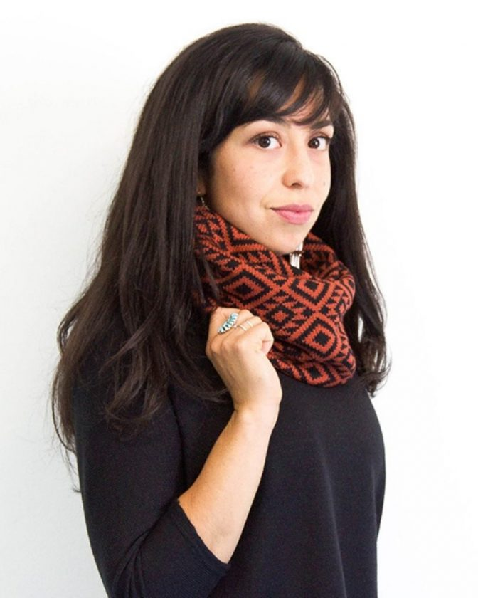 Sustainable winter scarves from Indigenous brand Makwa Studio