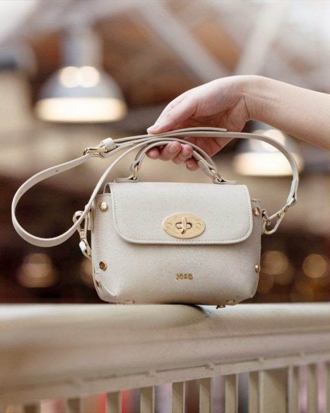 White cork handbag from JORD