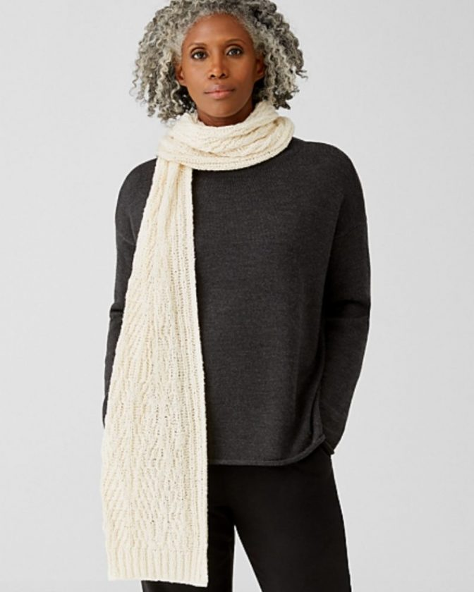 Ethical and sustainable winter scarves from Eileen Fisher