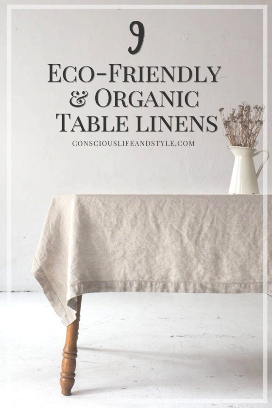 9 Eco Friendly and Organic Table Linens - Conscious Life and Style