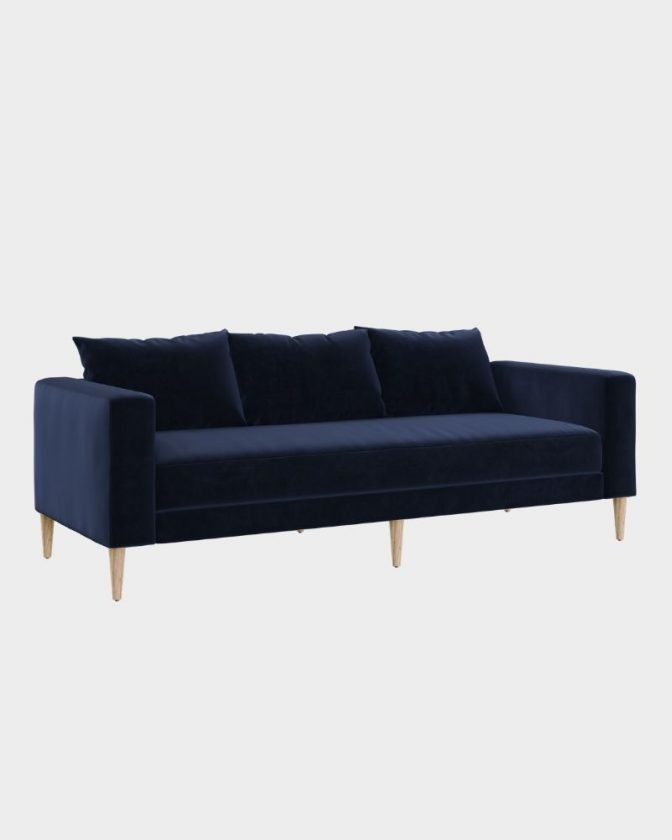 Navy blue sustainable couch from Sabai