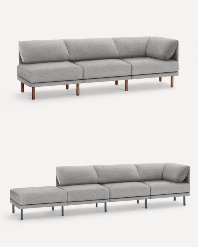 Gray modular non-toxic sofa from Burrow
