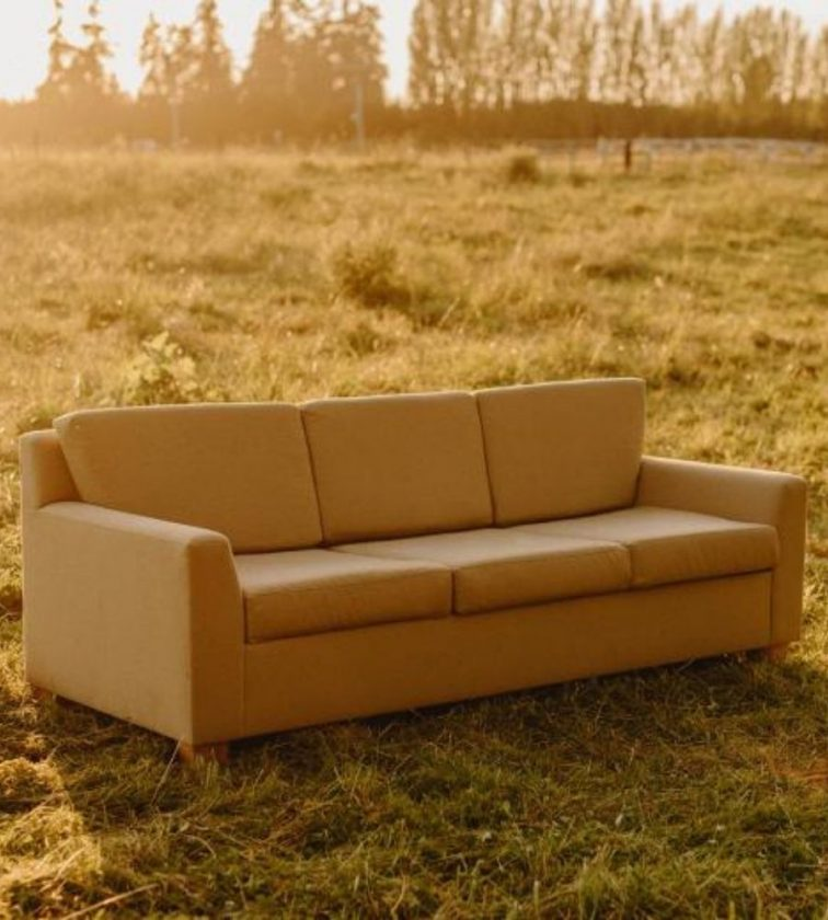 Yellow non-toxic organic sofa from Savvy Rest