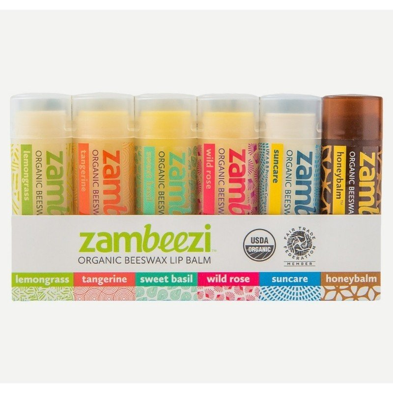 Organic Fair Trade Lip Balm from Zambeezi - Eco Friendly and Fair Trade Valentine's Day Gifts