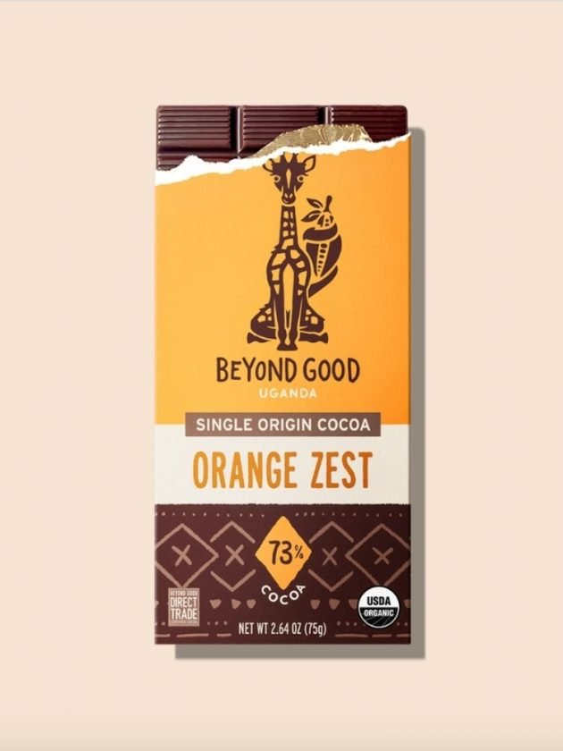 Fair trade ethical orange zest chocolate from Beyond Good