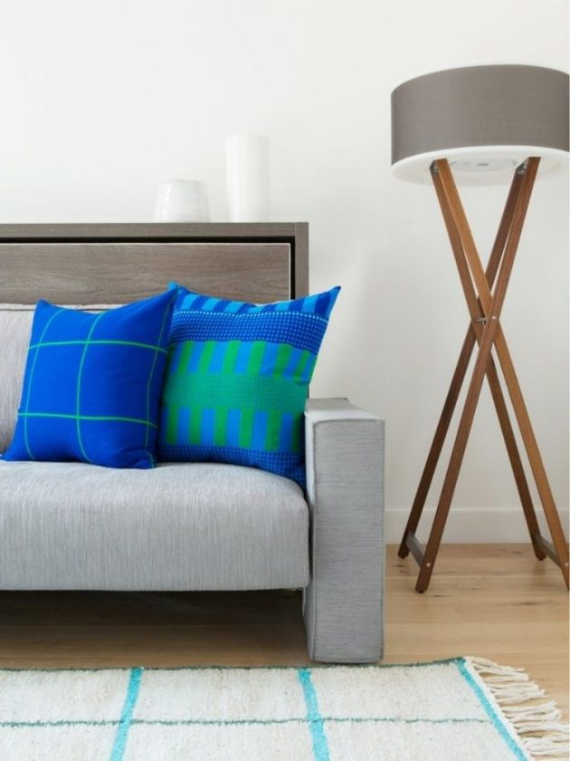 Blue ethical throw pillows from Bolé Road Textiles