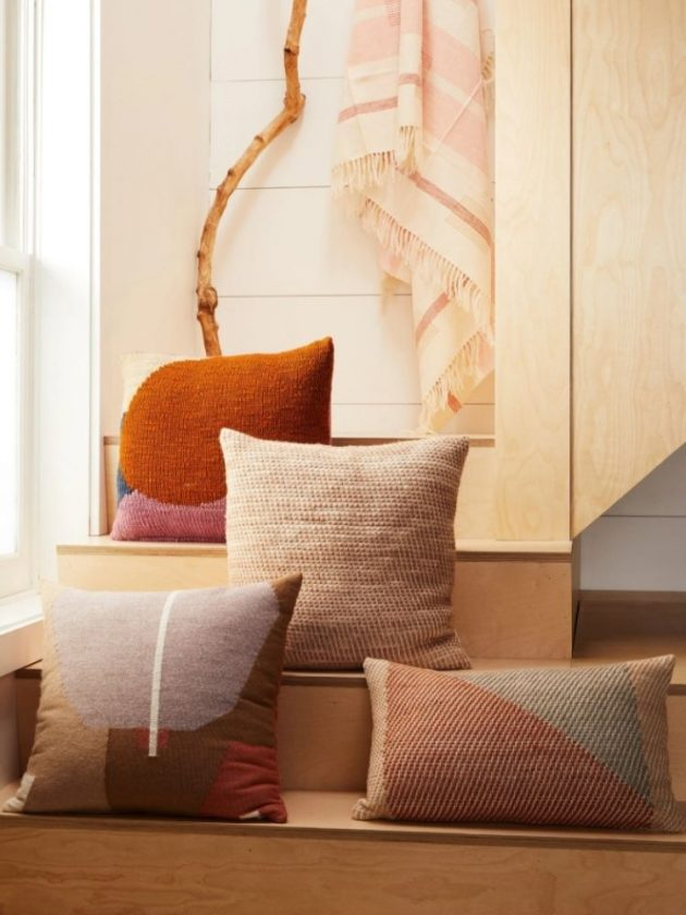 Ethical throw pillows with a contemporary design from MINNA