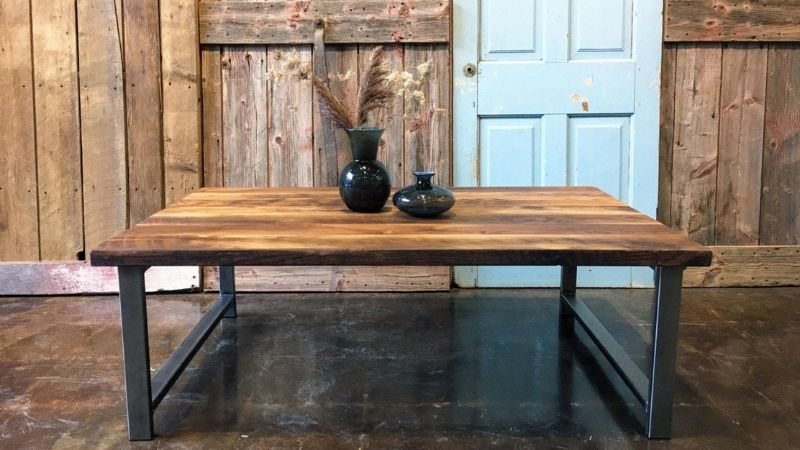 Vintage table from sustainable tables brand Etsy Reclaimed