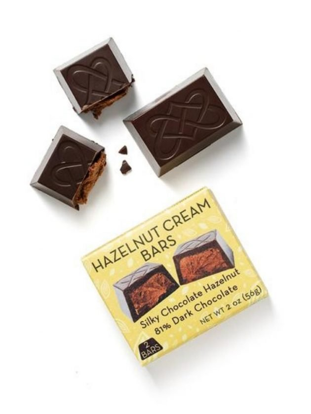 Fair trade ethical hazelnut cream bars from Coracao Confections