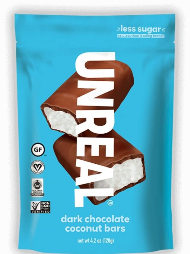 Fair trade ethical dark chocolate coconut bars from UnReal