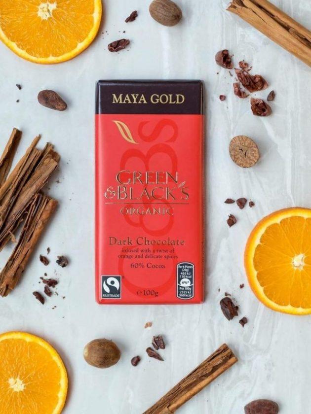 Fair trade ethical dark chocolate from Green & Blacks
