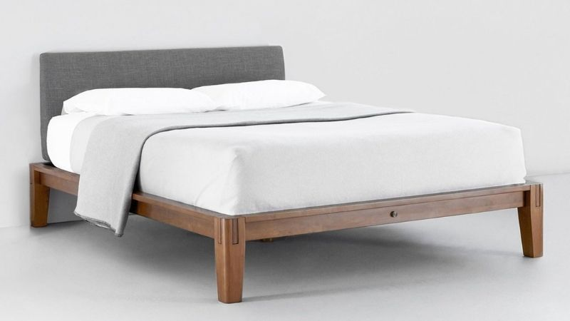 Sustainable and wooden bed frame from Thuma