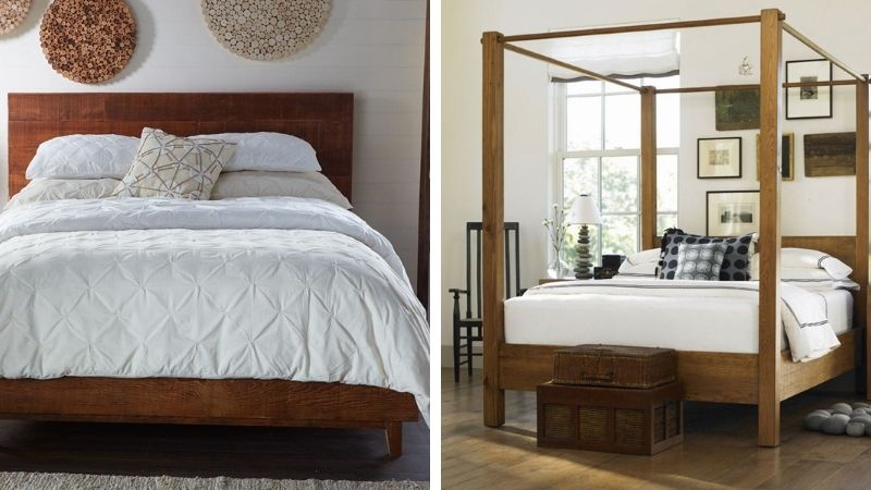 Reclaimed wood and non-toxic bed frames from VivaTerra