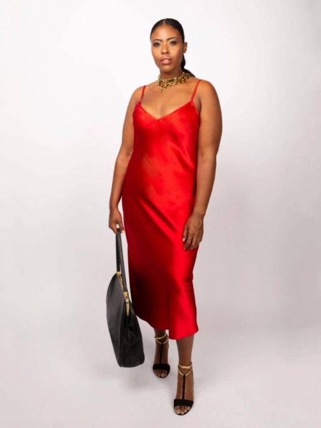 Red ethical formal dress from BAACAL