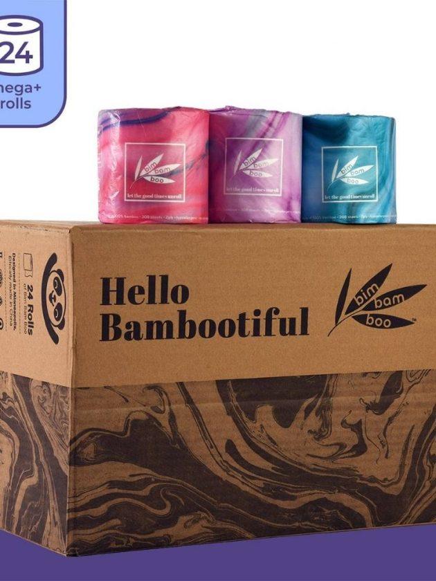 Bamboo toilet paper from Bim Bam Boo