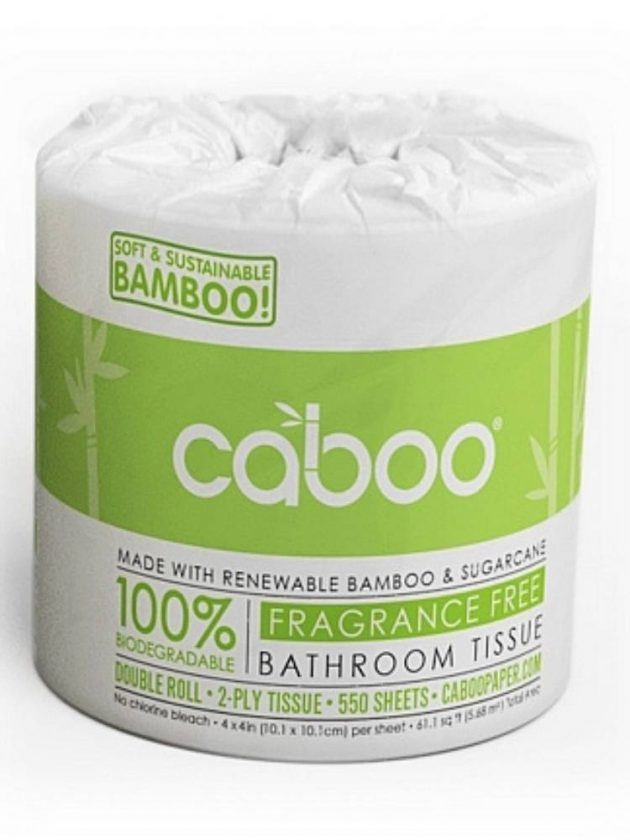 Sustainable toilet paper roll from Caboo
