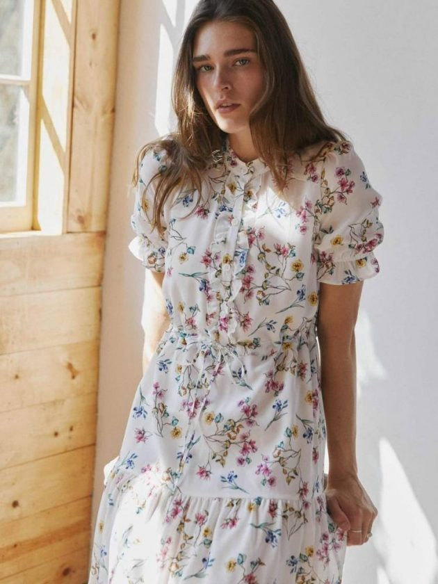 Vintage-inspired sustainable dress from Christy Dawn