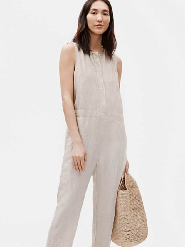 Organic linen clothing from Eileen Fisher