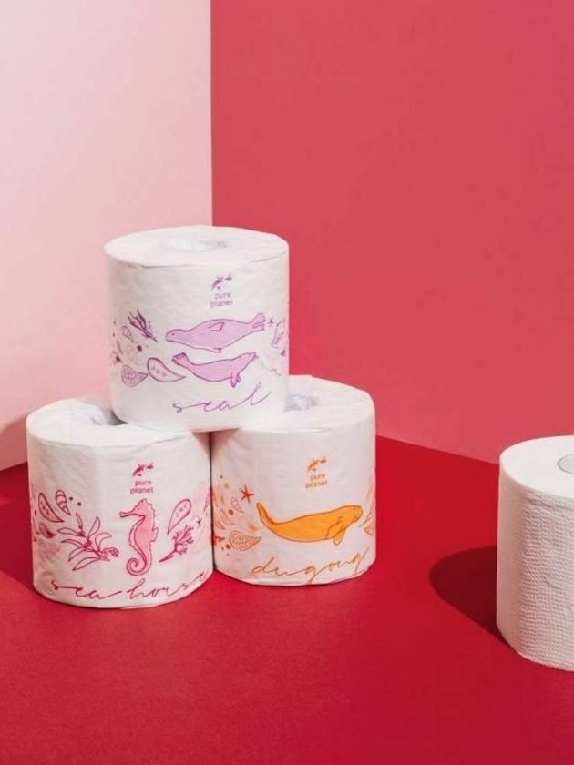 Bamboo toilet paper rolls from Pure Planet