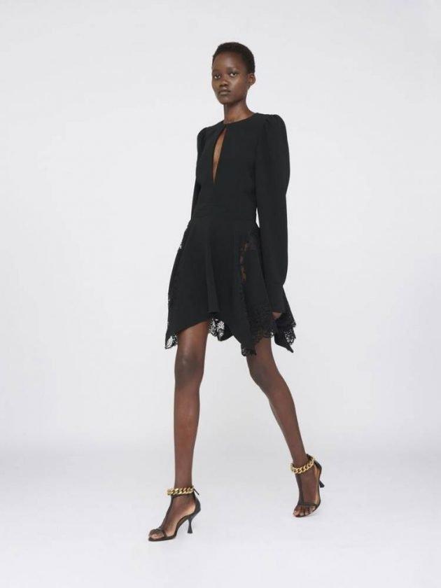 Black short ethical formal dress from Stella McCartney