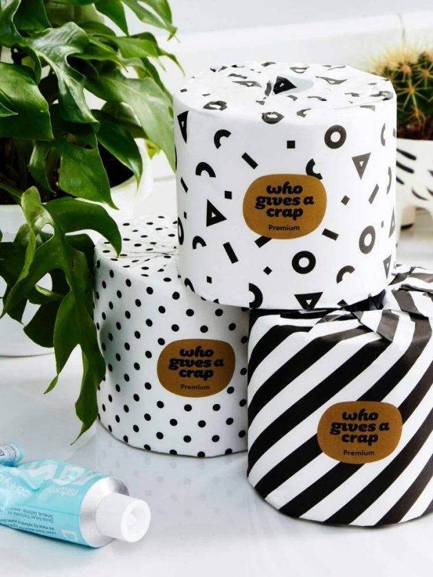 Eco-friendly toilet paper rolls from Who Gives a Crap